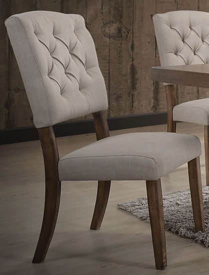 Bernard Cream Linen Side Chair Set of 2