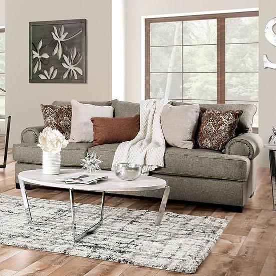 Furniture of America Transitional Nailhead Trim Sofa - Grey