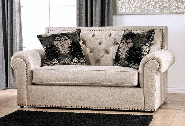 Furniture of America Parshall Greta Tufted Loveseat