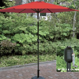 9′ Umbrella Red