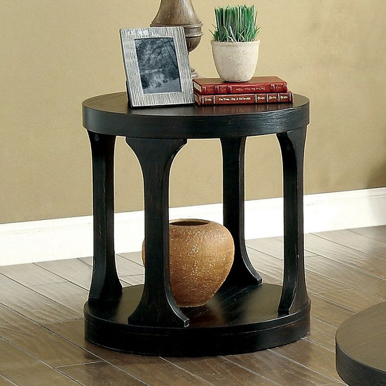 Furniture of America Carrie Transitional Style Round End Table