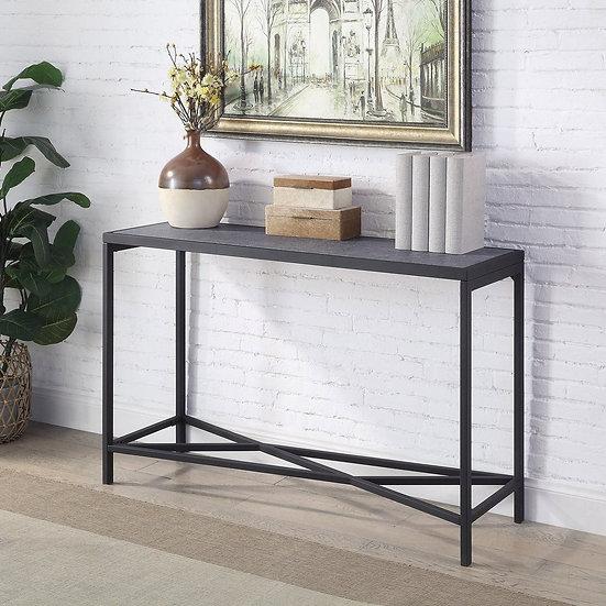 Furniture of America Contemporary Sand Black Sofa Table