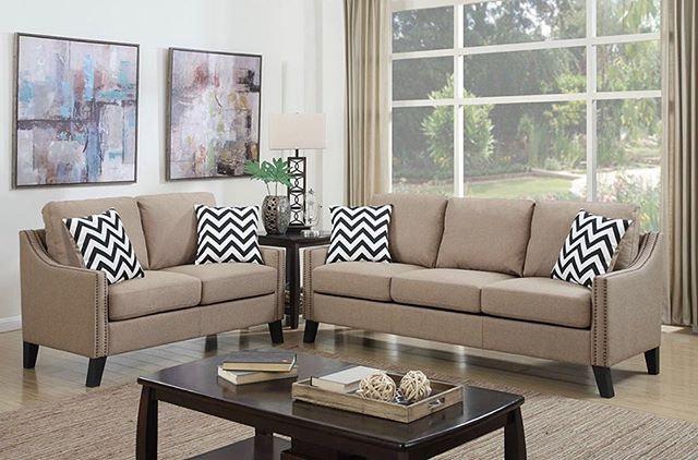 Loveseat and sofa set