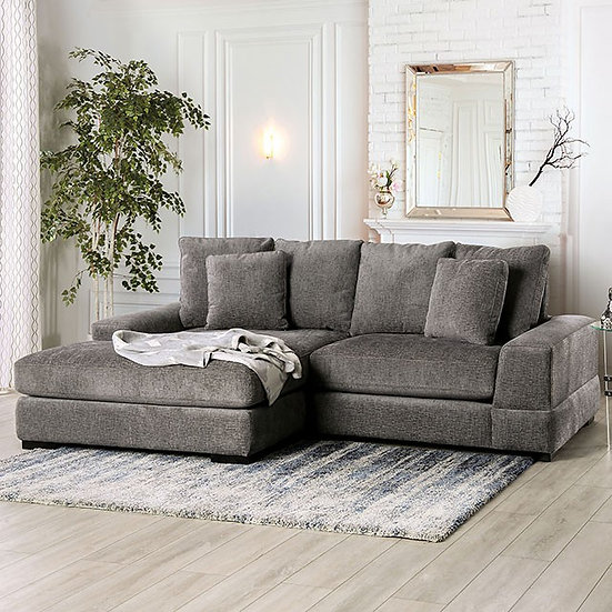 Furniture of America Charcoal Chenille Sectional