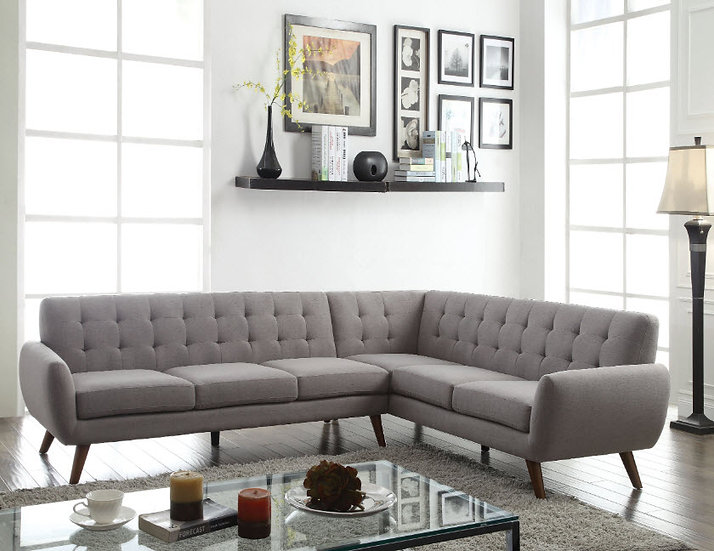 Essick Mid-Century Style Sectional Sofa