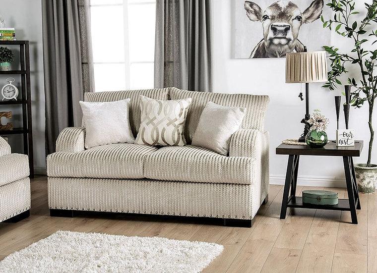 Furniture of America Zayla T-Cushion Loveseat