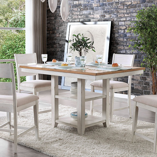 Furniture of America BrigidII 5 Piece Counter Height Table Set
