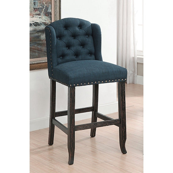 Furniture of America Linen Bar Chairs (Set of 2)