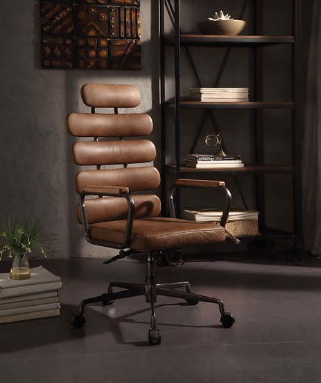 Calan Retro Brown Leather Executive Office Chair