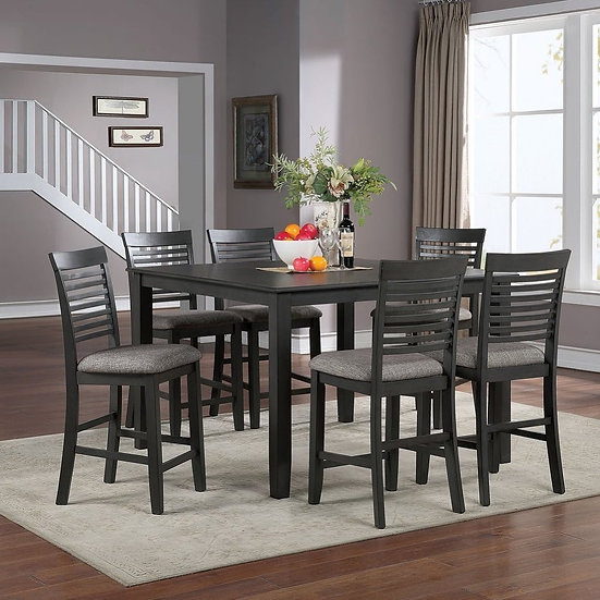 Furniture of America Emie 7-Piece Counter Height Set