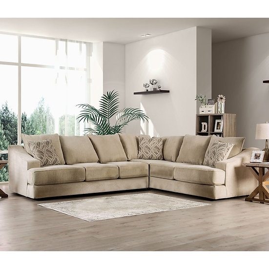 Furniture of America Contemporary Fabric L-shape Sectional