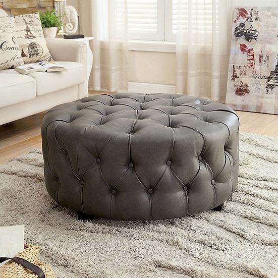 Furniture of America Latoya Round Ottoman