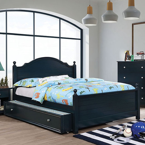 Furniture of America Diane Navy Twin Bed