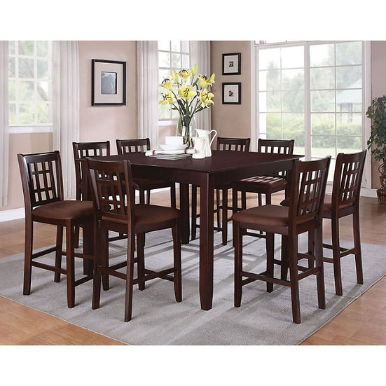 Acme Furniture Adalia 9 Piece Square Counter Height Dining Table Set