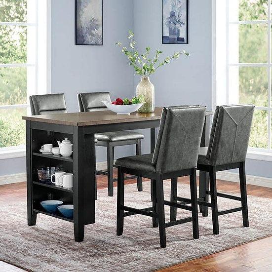 Furniture of America Five-piece Kearney Counter Ht. Table Set