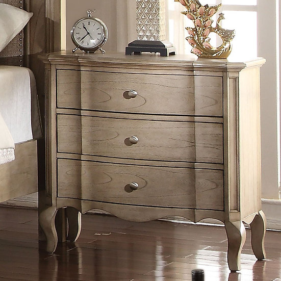 Chelmsford 3-Drawer Nightstand in Antique Taupe