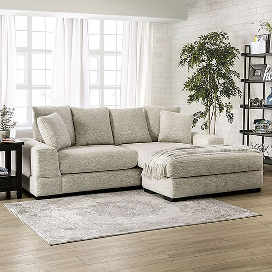 Furniture of America Beige Chenille Sectional