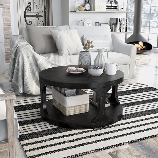 Furniture of America Carrie Transitional Style Round Coffee Table