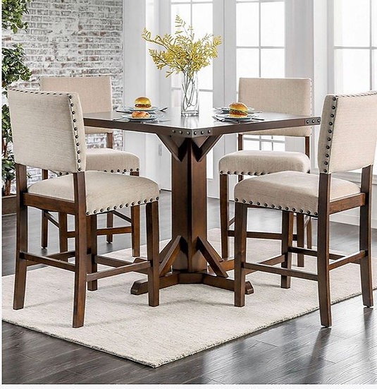 Furniture of America Glenbrook 5-Piece Counter Height Table Set