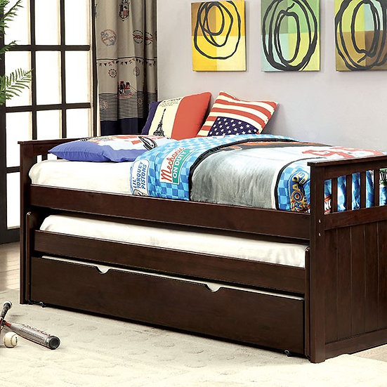 Furniture of America Gartel Brown Twin Solid Wood Daybed