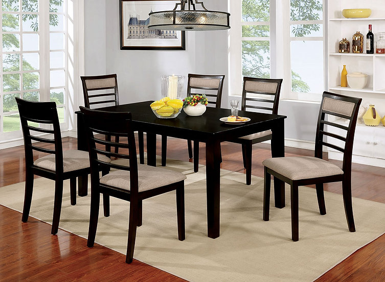 Furniture of America Fafnir 7 Pc. Dining Table Set