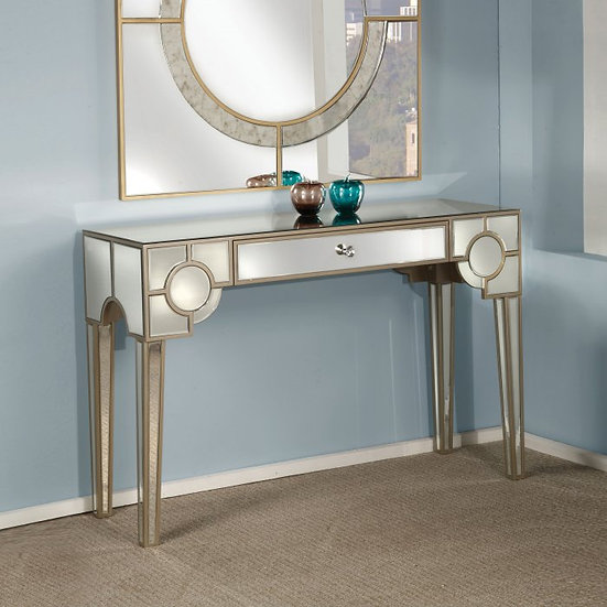 2PC NOWLES CONSOLE TABLE & WALL DECOR