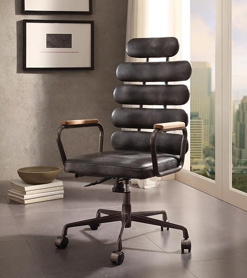 Calan Vintage Black Leather Executive Office Chair