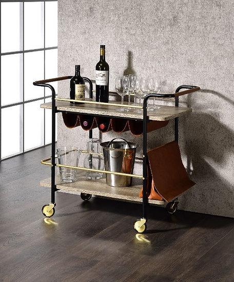 ACME Wine Storage & Pouch Serving Cart