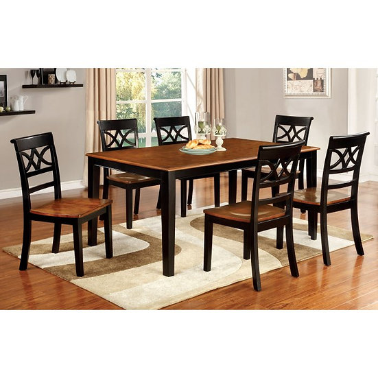 Furniture of America Torrington Country 7 Piece Counter Height Dining Set