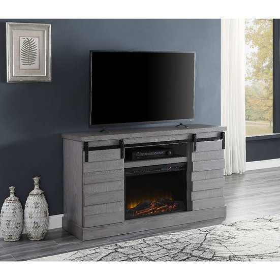 Farmhouse TV Stand w/Fireplace (LED)