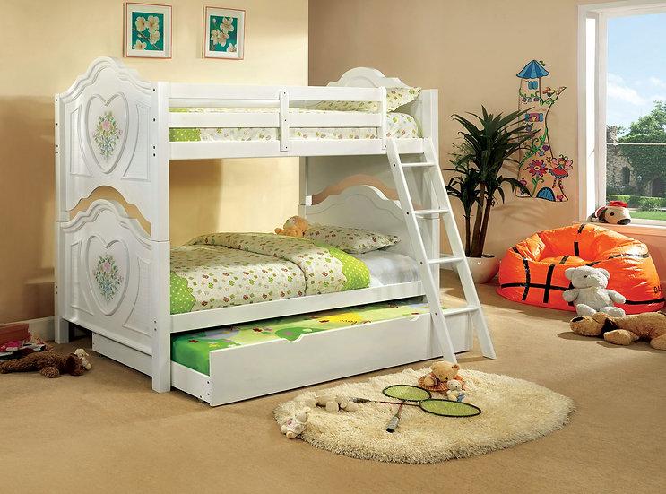 Furniture of America  Isabella III Twin over Twin Bunk Bed