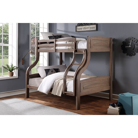 Twin/Full Bunk Bed Wood Veneer
