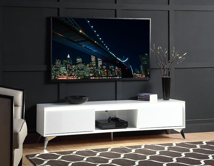 LED Touch Light Modern Glossy TV Stand