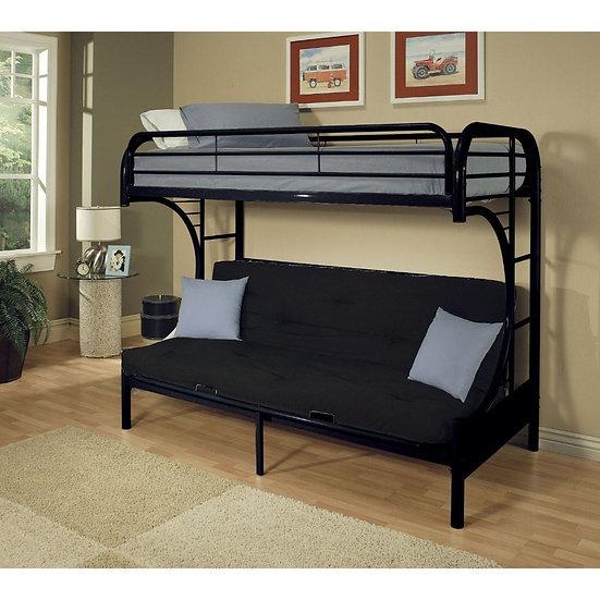 Twin/Full/Futon Bunk Bed- Black