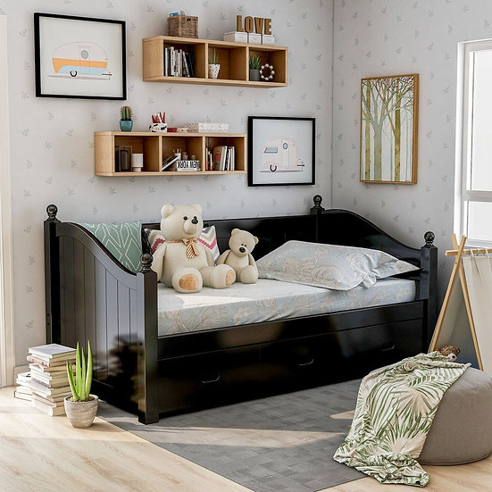 Furniture of America Cottage Twin Wood Daybed with Trundle