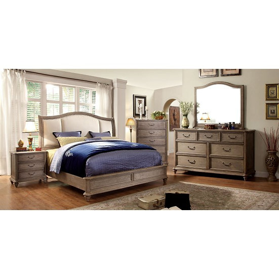 Furniture of America Belgrade II Upholstered Sleigh Bed Set