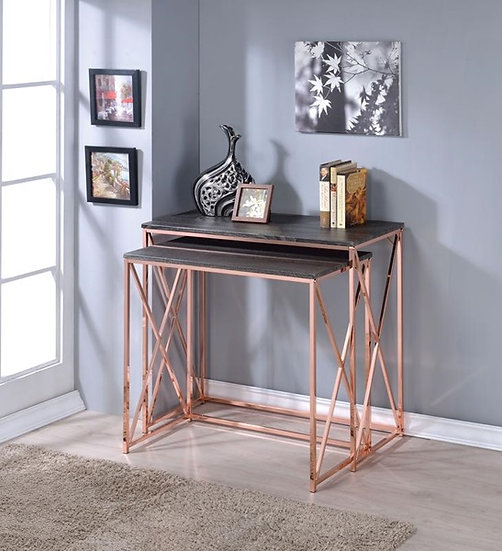 2PC PK NESTING CONSOLE TABLE