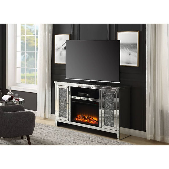 Glam TV Stand w/Fireplace (LED)
