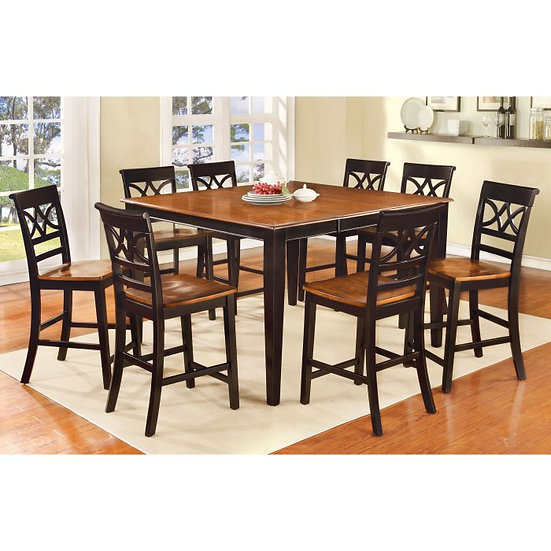 Furniture of America Torrington II Country 9 Piece Counter Height Dining Set