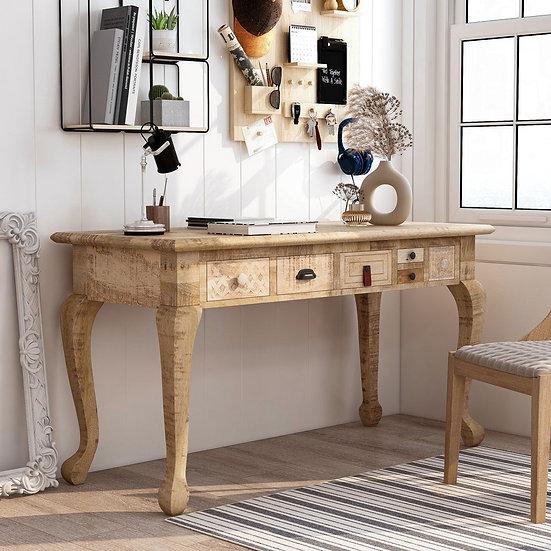 Furniture of America Natural 53-inch Solid Wood Desk