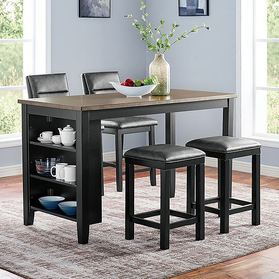Furniture of America Five-piece Kearney Counter Ht. Table Set with stools
