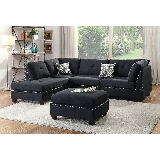 Roslyn Reversible Sectional with Ottoman