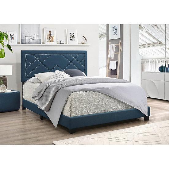 ACME Ishiko Queen Bed in Dark Teal Fabric
