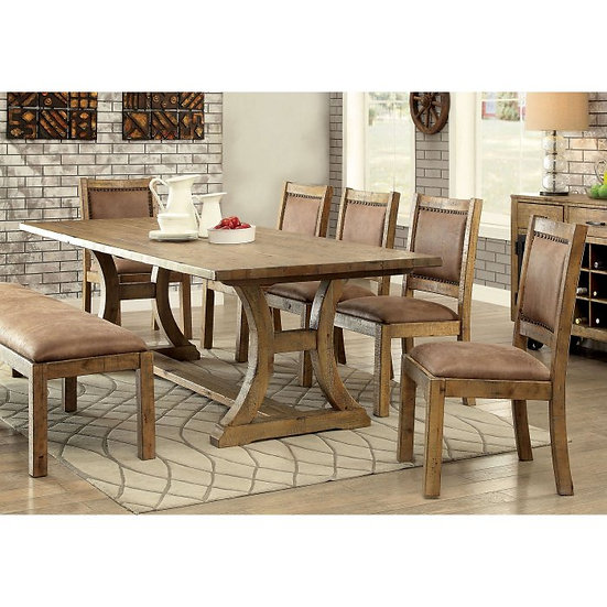 Furniture of America Camen 6-Piece Dining Set