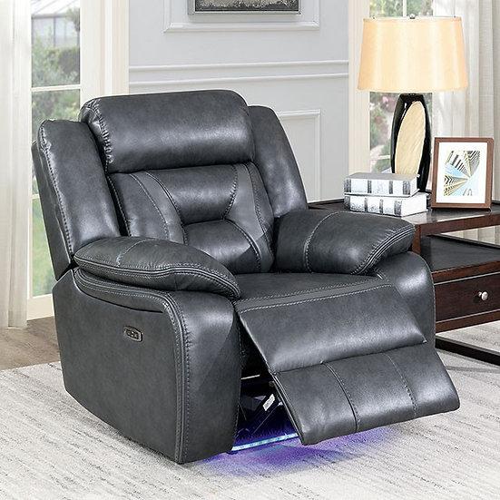 Marnie Grey Leather Reclining Power Chair