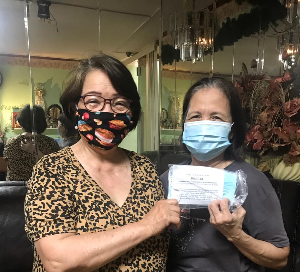 PACCAL providing masks to Seniors