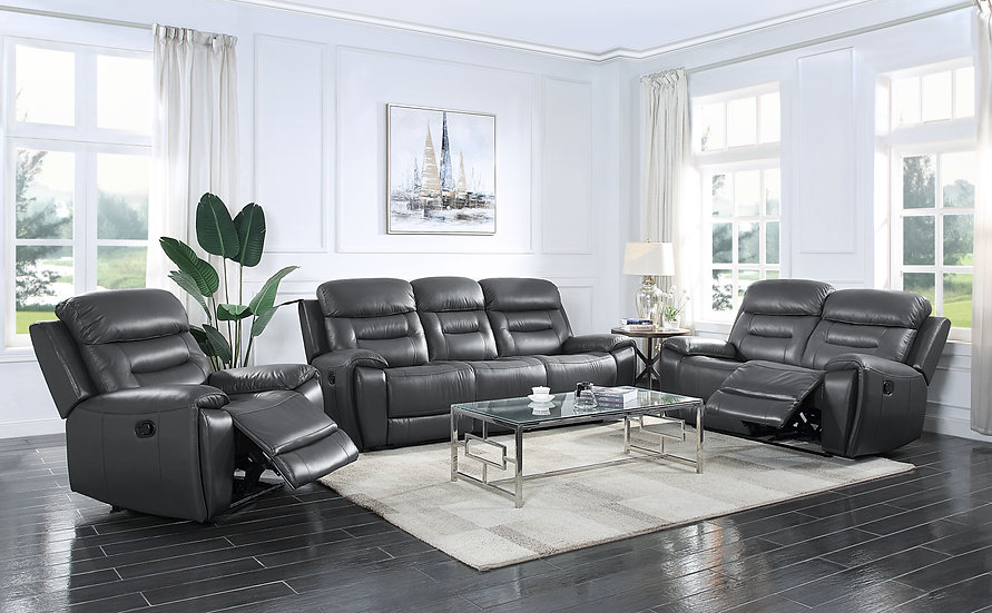 3-pc Sofa, Loveseat and Chair Recliner Set