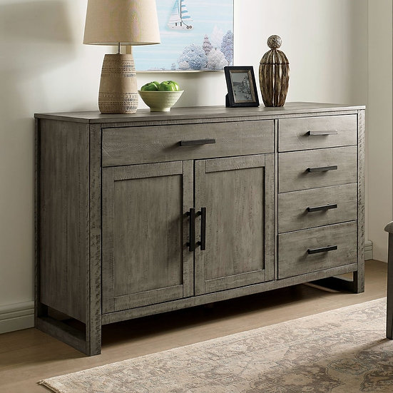 Furniture of America Clary Transitional Grey Solid Wood Server