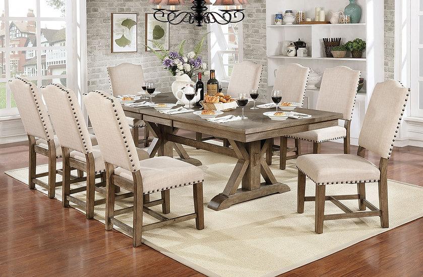 Furniture of America Julia 7-Piece Dining Table Set