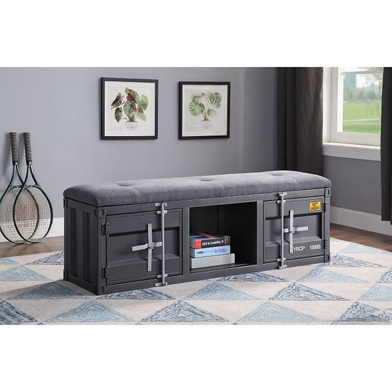 Gunmetal Cargo Storage Bench